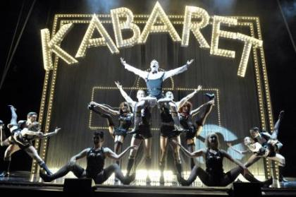 Will Young as Emcee and the Company in Cabaret 2 Photographer Keith Pattison 2012 PRODUCTION